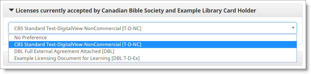 Requesting and Licensing Content The Digital Bible Library 460 – Access Request Form